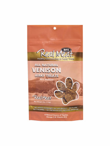 Real Meat All-Natural Venison Jerky Treats