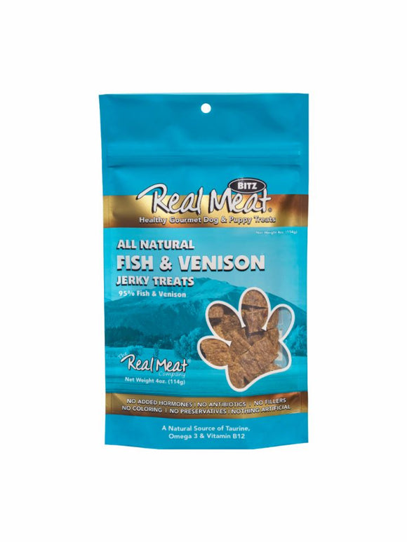 Real Meat All-Natural Fish & Venison Jerky Treats