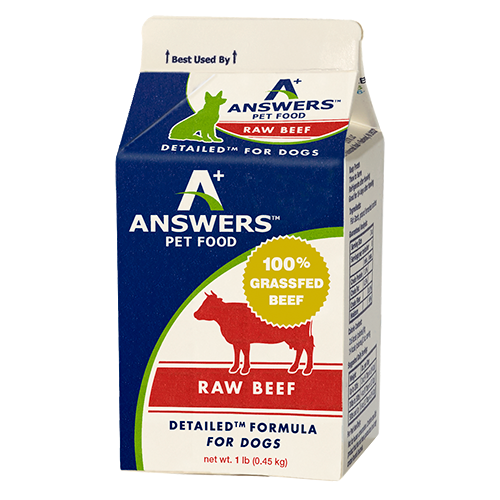 ANSWERS DOG FROZEN DETAILED BEEF