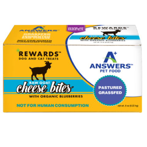ANSWERS REWARDS GOAT CHEESE BITES BLUEBERRY