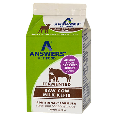 ANSWERS ADDITIONAL FORMULAS RAW COWS MILK KEFIR