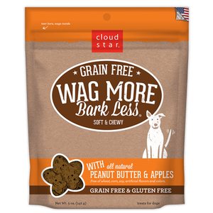 Cloud Star Wag More Bark Less Peanut Butter & Apples