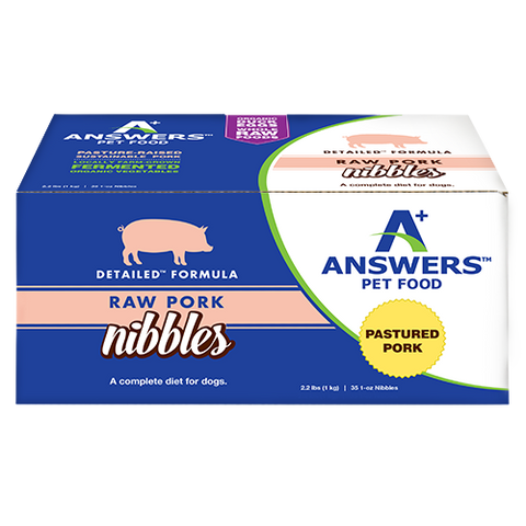 ANSWERS DOG FROZEN NIBBLES & PATTIES DETAILED PORK