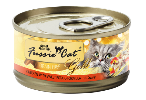 Fussie Cat Super Premium Chicken With Sweet Potato Formula In Gravy
