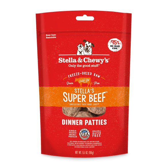 Stella & Chewy's Super Beef Freeze-Dried Raw Dinner Patties