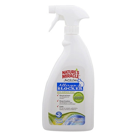 Natures Miracle Allergen Blocker Air and Surface Spray - Just for Cats