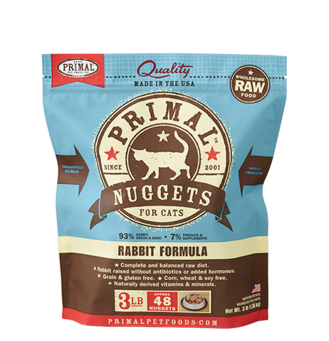 PRIMAL RAW FROZEN FELINE RABBIT FORMULA