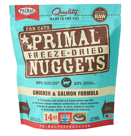 PRIMAL RAW FREEZE-DRIED FELINE CHICKEN & SALMON FORMULA