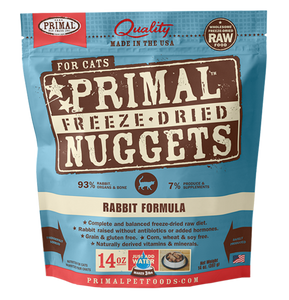 PRIMAL RAW FREEZE-DRIED FELINE RABBIT FORMULA