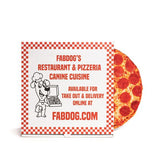 "Fabdog 10"" Pizza Squeaky Toy"