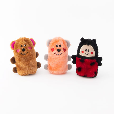 Zippy Paws Squeakie Buddies - Pack of 3