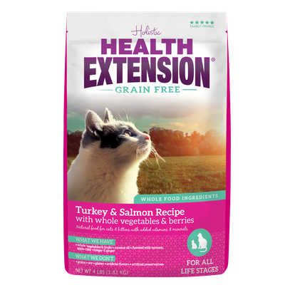 Health Extension Kitten & Cat Grain Free Turkey & Salmon Recipe