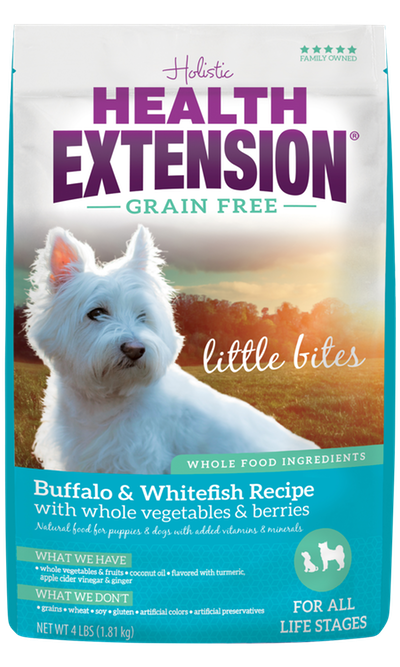 Health Extension Grain Free Buffalo & Whitefish Recipe Little Bites
