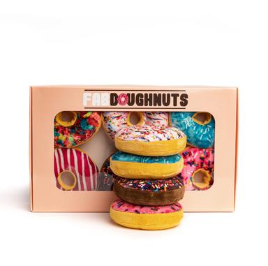 Fabdog Box of Doughnut Toys