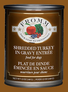 Fromm Dog Shredded Turkey in Gravy Entrée Cans