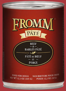 Fromm Dog Beef & Barley Pate Cans