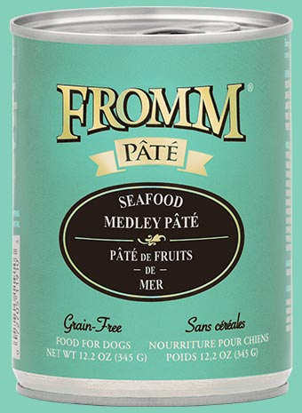 Fromm Dog Seafood Medley Pate Cans