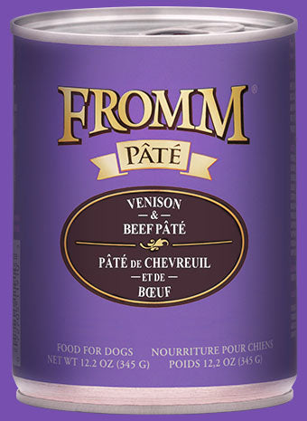 Fromm Dog Venison & Beef Pate Cans