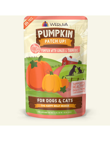 WERUVA PUMPKIN PATCH UP! POUCH | PUMPKIN W/ GINGER & TUMERIC