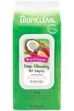 TROPICLEAN DEEP CLEANING WIPES FOR PETS