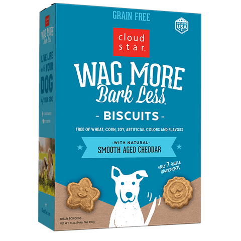 Cloud Star Wag More Bark Less Oven Baked Biscuits Smooth Aged Cheddar 14oz