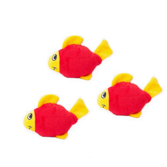 Zippy Paws Miniz 3-Pack Fish
