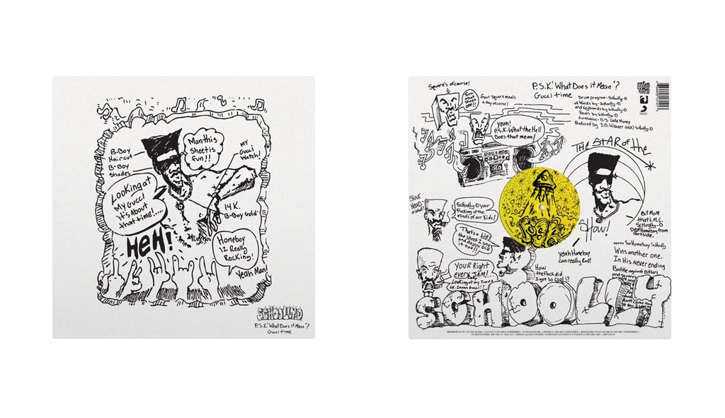 "P.S.K. (What Does It Mean?) b/w Gucci Time (Split Colored 12"" w/ Sticker Sheet)"