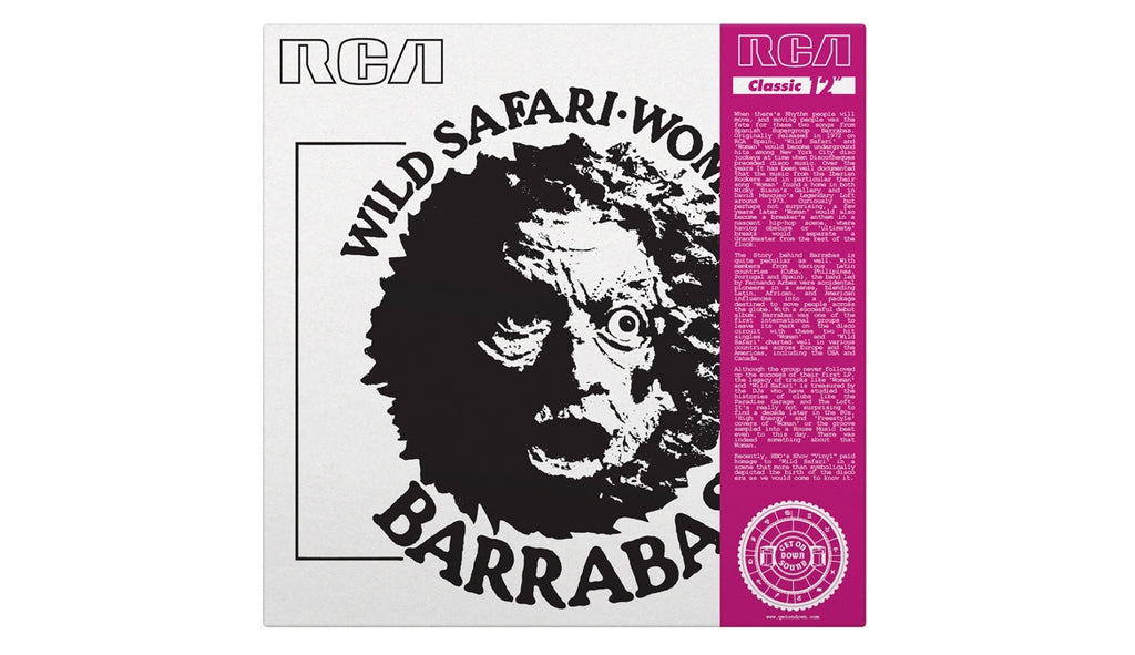 "Wild Safari b/w Woman (12"")"