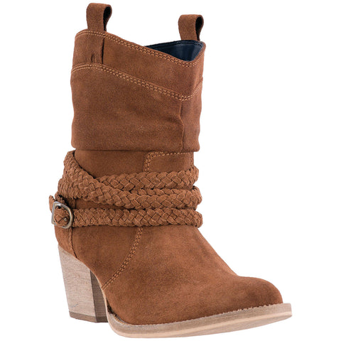 DINGO WOMEN'S  LEATHER TWISTED SISTER RUST