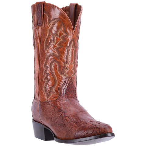 DAN POST MEN'S  OSTRICH PUGH COGNAC
