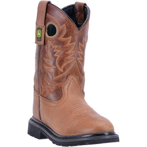 JOHN DEERE CHILDREN'S  LEATHER JOHNNY POPPER CHILDREN'S BROWN - TAN