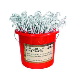 14958 200PC Set Tent Peg Aluminum Bucket Packed 200/Cs.