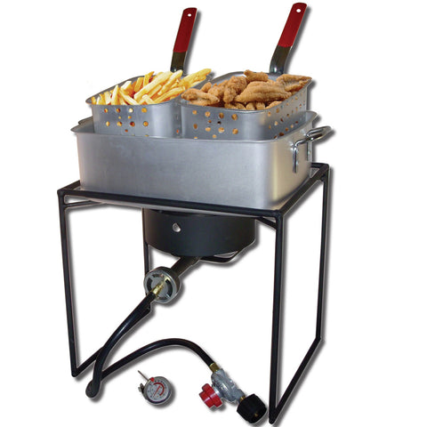 "King Kooker #1618-16"" Rectangular Cooker with Pan Package"