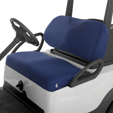 Fairway Golf Cart Diamond Air Mesh Seat Cover - Navy