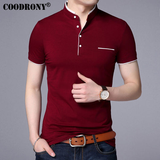 Polo shirt with high neck for men Ref. COODRONY - Fantastyc 10e1b4b92a5fe