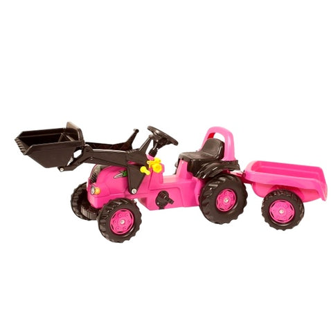 Rolly Toys Pink Medium Tractor Trailer and Loader