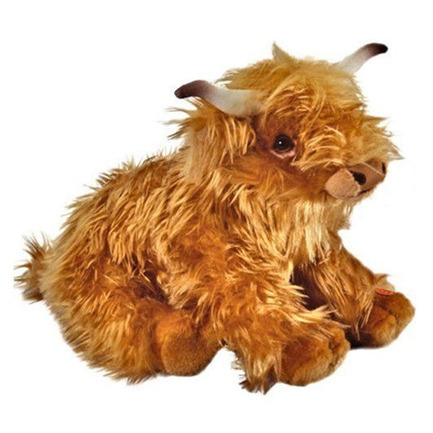 Living Nature Large Scottish Highland Cow with Sound Toy