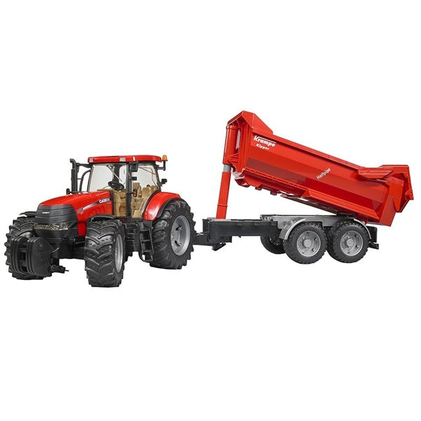 Bruder Toys Case IH Puma 230 CVX and Krampe Tipping Trailer Bruder 03099