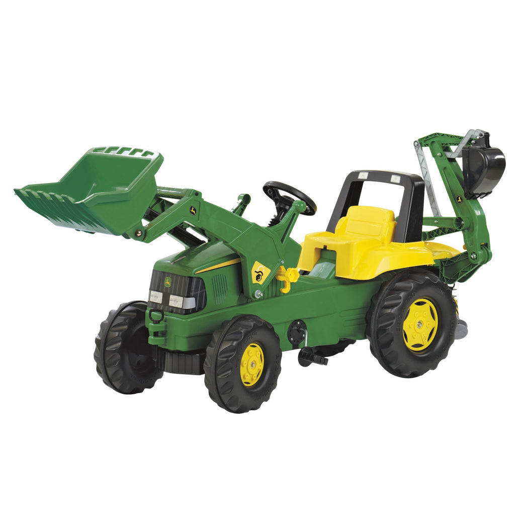 Rolly Toys John Deere Tractor with Front Loader and Back Hoe Digger