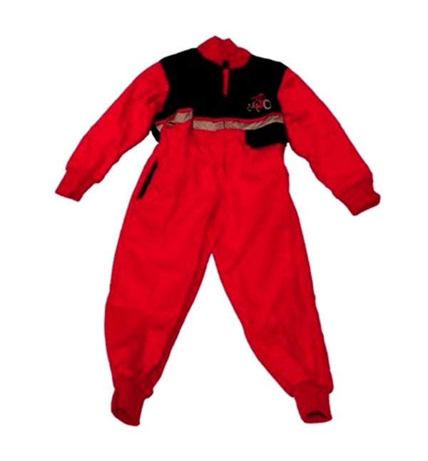 Children's Red and Black Boiler Suit Age 4-5 Years