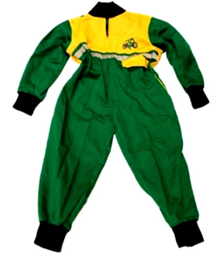 Children's Green and Yellow Boiler Suit Age 6-7 Years