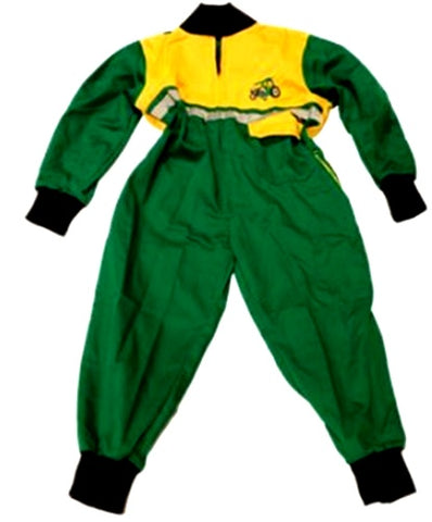 Children's Green and Yellow Boiler Suit Age 8-9 Years
