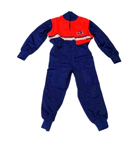 Children's Blue and Red Boiler Suit Age 6-7 Years