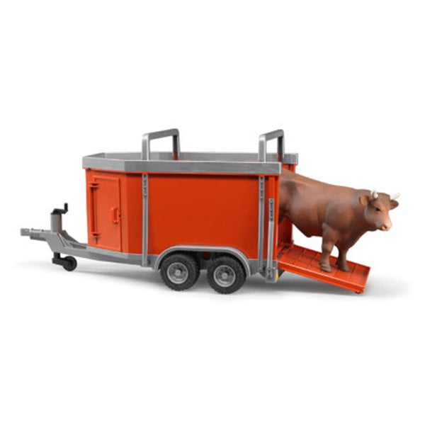 Bruder Toys Cattle Trailer with Cow Bruder 02029