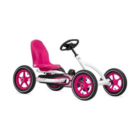 Berg Buddy Pedal Go Kart Pink and White