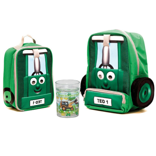 Tractor Ted Back to School Backpack and Lunch Bag Combi - Glitter Glass