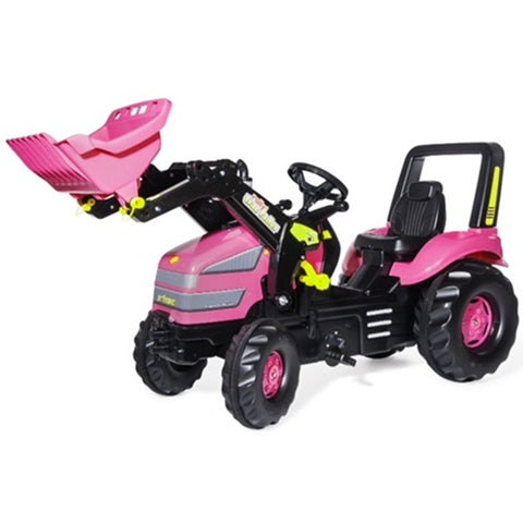 Rolly Toys Pink X-Trac Pedal Tractor and Loader