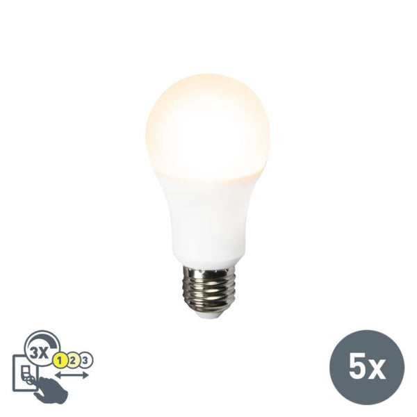 BIQ - Set van 5 LED lamp 3in1 E27