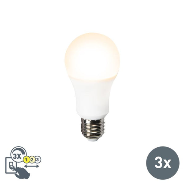 BIQ - Set van 3 LED lamp 3in1 E27