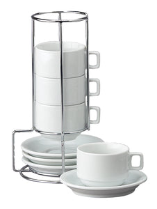 9-Piece Stackable Espresso Coffee – Set of 4